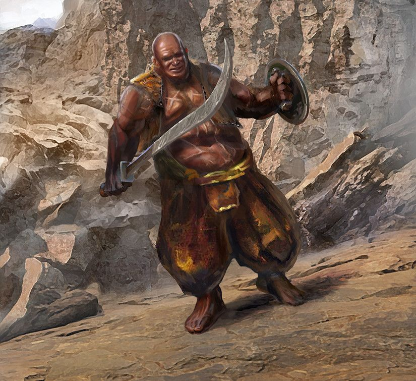 Awesome Asoiaf Illustration Of Strong Belwas For Fantasy Flight
