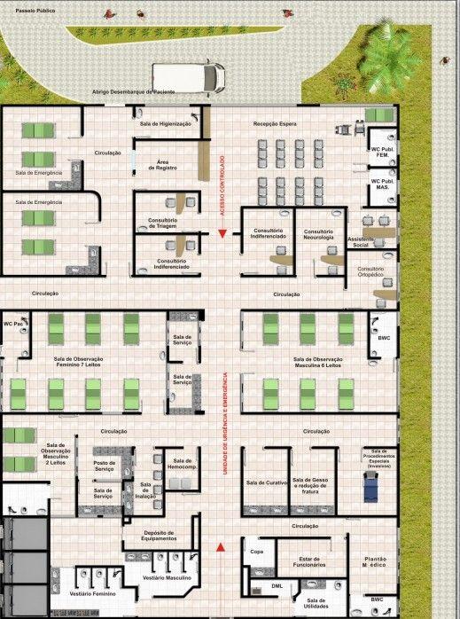 Fabuloso planta baixa unidade de pronto atendimento - Pesquisa Google  GH14