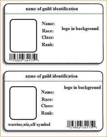 card template word outline templates blank free psd eps formats - blank id card template