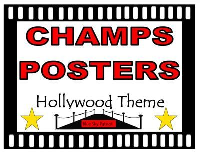 CHAMPS+Posters+Hollywood+Theme+from+BlueSkyPatriot+on+TeachersNotebook.com+-++(20+pages)++-+18+Posters.+Print+only+the+posters+that+fit+your+classroom+management+program.+Set+includes+a+CHAMPS+poster+for:+Voice+Levels,+Warm+Up,+Bellwork,+Morning+Work,+Teacher+Instruction,+Small+Group,+etc.