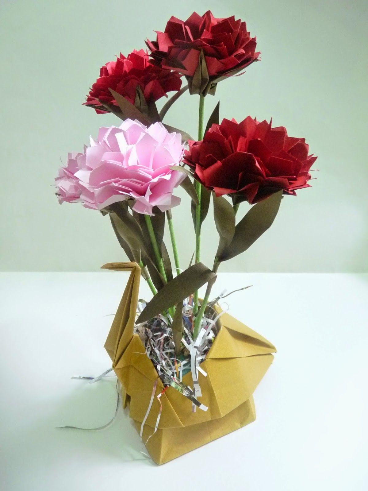 Eagle : LINE Q   Origami FlowersEaglesVaseFlower ...