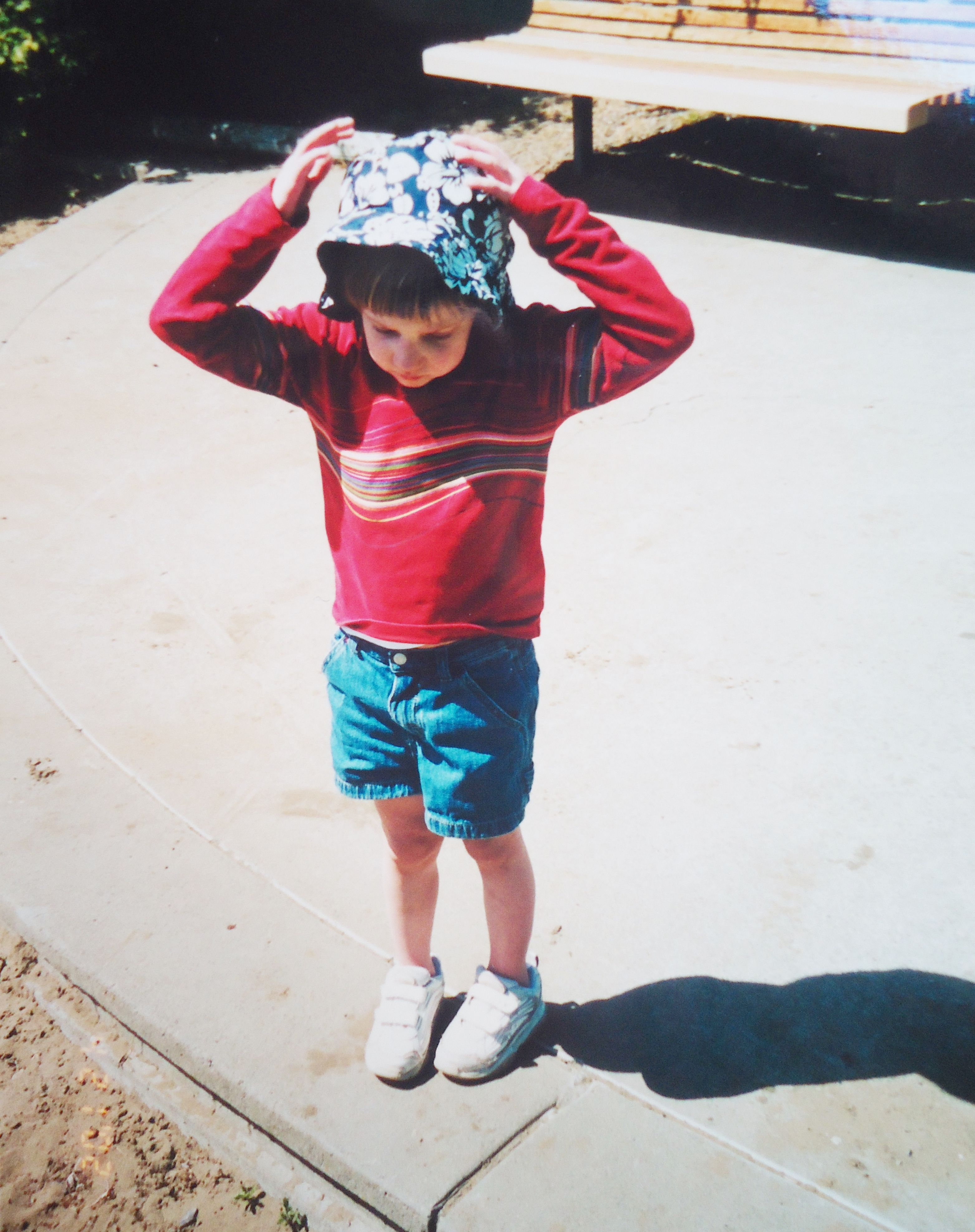 Kid Outside With Hat