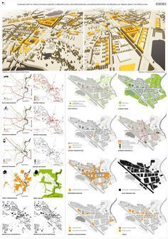 1st prize, Competition for new masterplan for Lenica on Behance #urbaneanalyse