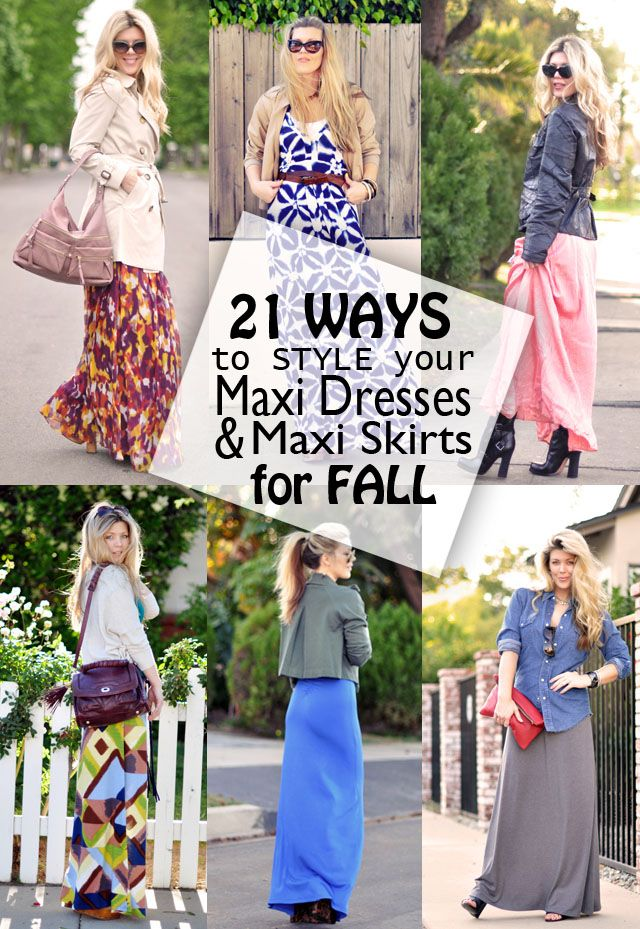 15b8ac56be78 21 ways to style your maxi dresses   maxi skirts for fall - i ve been  looking for ideas like this for over a yearrr!