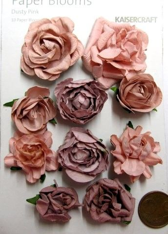 Kaisercraft paper blooms flowers old pink dusty pink flowers colortrend2014 pinnaked winnaked urban decay mightylinksfo
