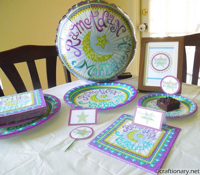 Ramadan crafts and iftar or sohour party gadgets.