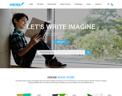 """Check out new work on my @Behance portfolio: """"Writer – eCommerce Bootstrap Template"""" http://be.net/gallery/38215883/Writer-eCommerce-Bootstrap-Template"""