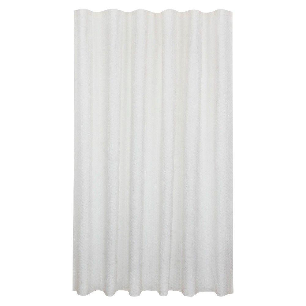 Bubble Texture Natural Shower Curtain White Fieldcrest Natural
