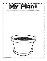 My Plant | Worksheet | Pre k worksheets, Preschool worksheets, Plant ...