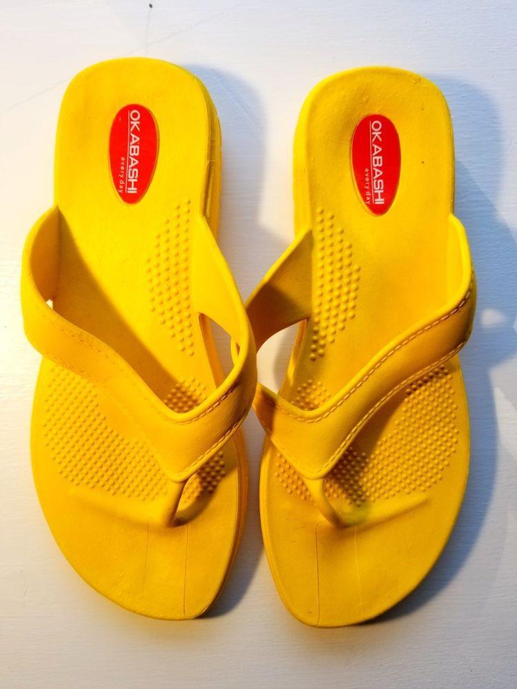 21c5b950cf6c7f Okabashi Women s Maui Thong Flip Flop Yellow Size Medium BRAND NEW  fashion   clothing  shoes  accessories  womensshoes  sandals (ebay link)