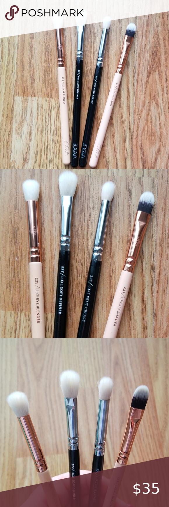 Zoeva Brushes 4 Pc NWT in 2020 Zoeva makeup brushes