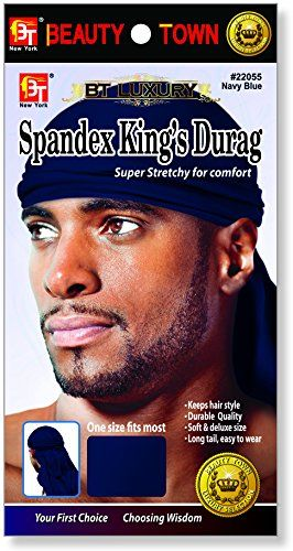 Beauty Town Luxury Spandex King's Durag Navy Blue * You