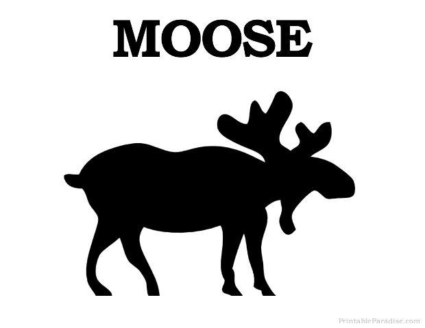 Printable Moose Silhouette Print Free Moose Silhouette Moose Silhouette Clip Art Art
