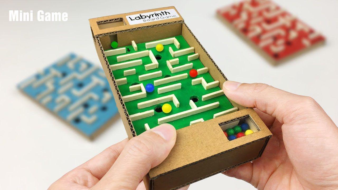 Diy amazing board game marble labyrinth from cardboard