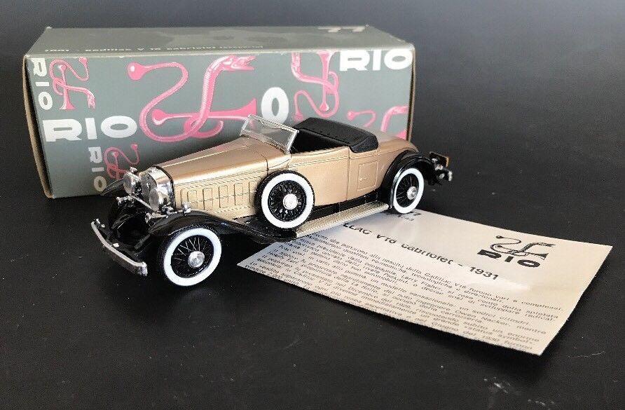 Rio Models 77 1931 Cadillac V16 Cabriolet Collectible Car W Orig Box