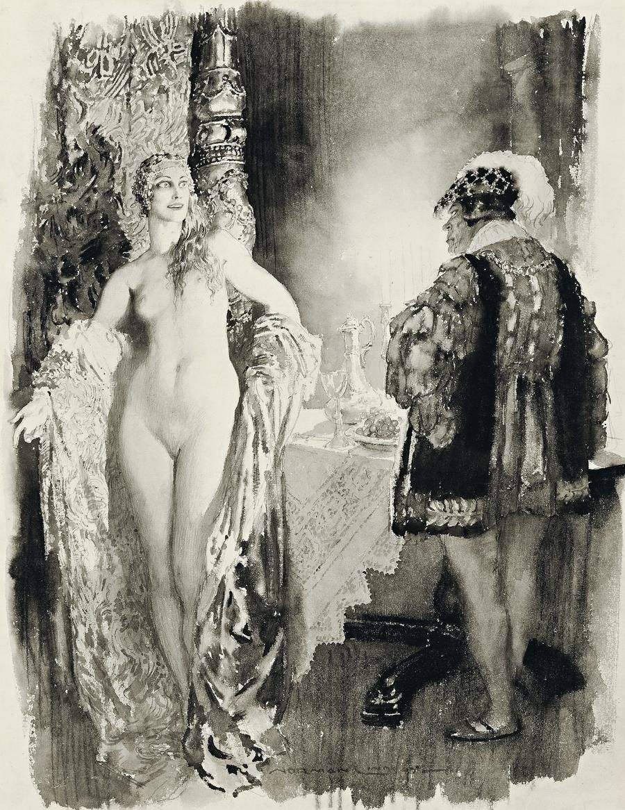 from Abraham norman lindsay painting the gay victorians