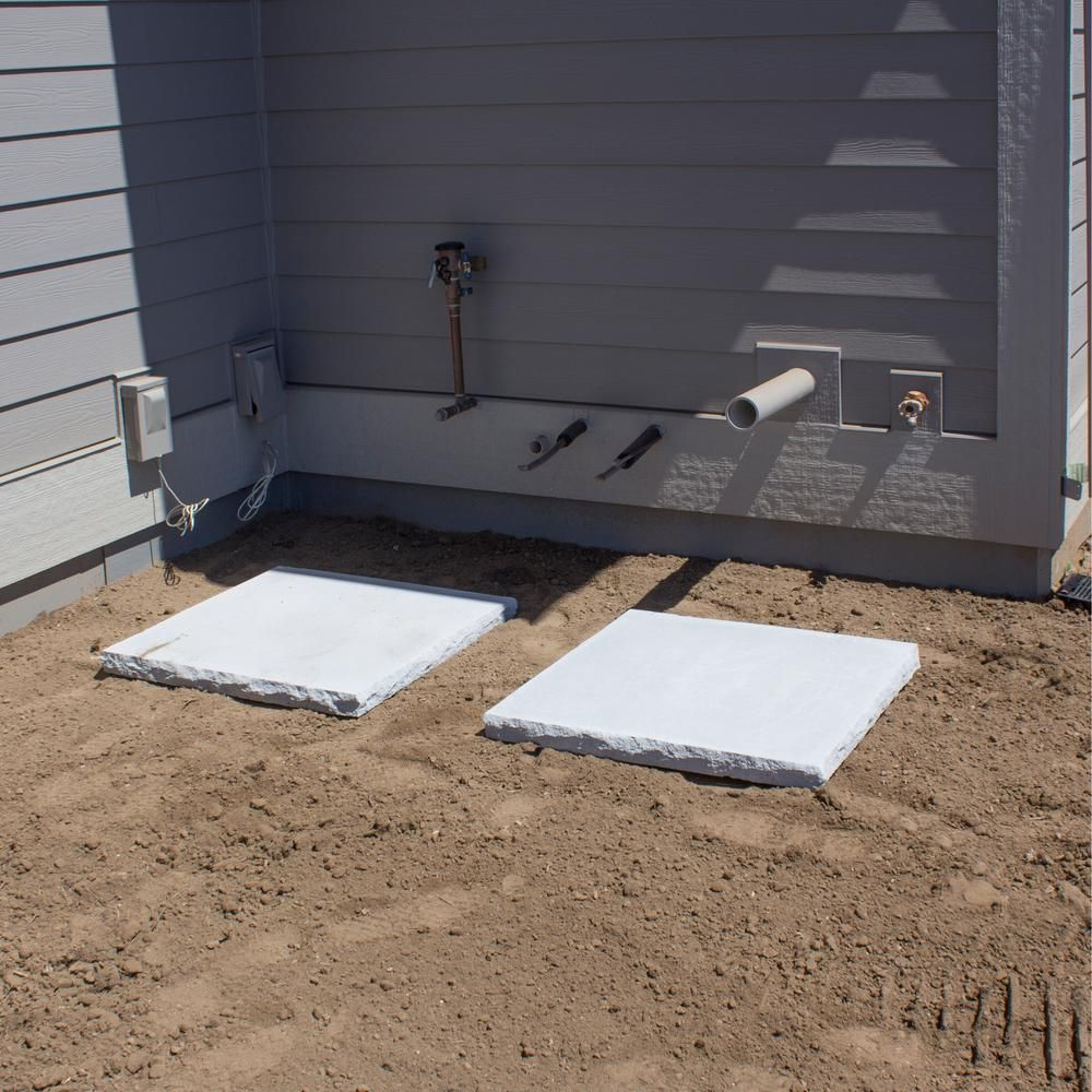 30 in. x 30 in. x 2.25 in. Gray Wetcast Concrete AC