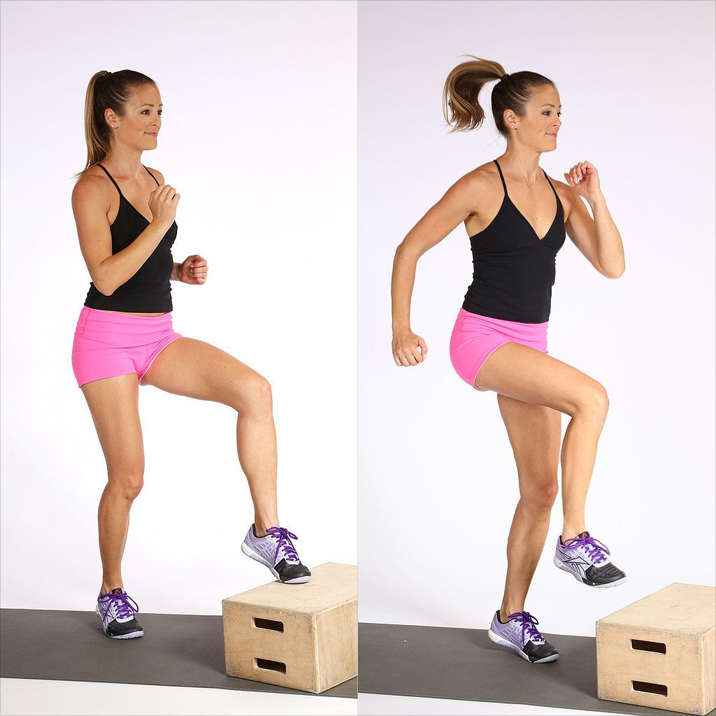 Box Toe Touches Using a box step book or stool lightly tap your  sc 1 st  Pinterest : gym step stool - islam-shia.org