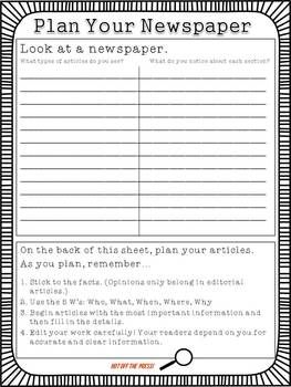 The Scoop Editable Student Newspaper Template  Language Arts