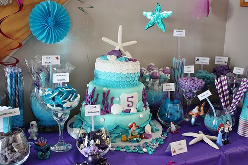 Under The Sea Candy Bar Little Mermaid Birthday Party