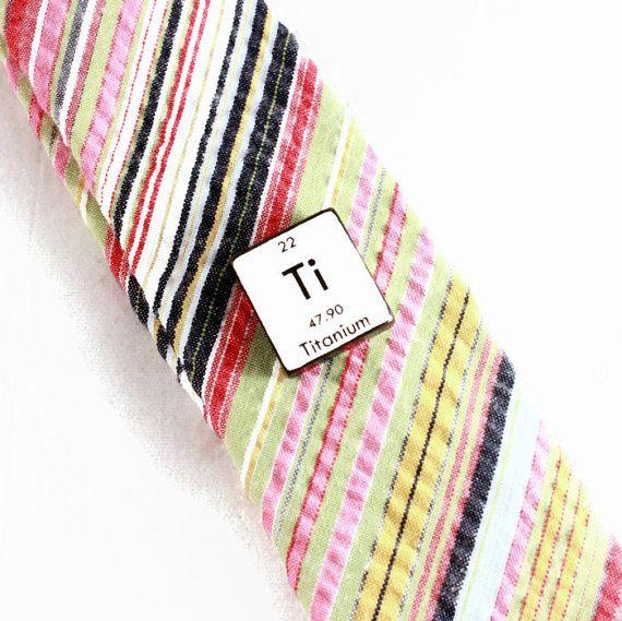 Tie Tack Chemistry Periodic Table Science Mens Fashion Nerd Geek Ti Titanium Humor Breaking Bad