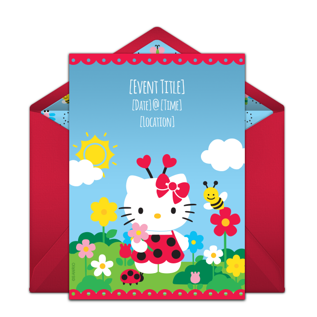 Free Hello Kitty Ladybug Invitations