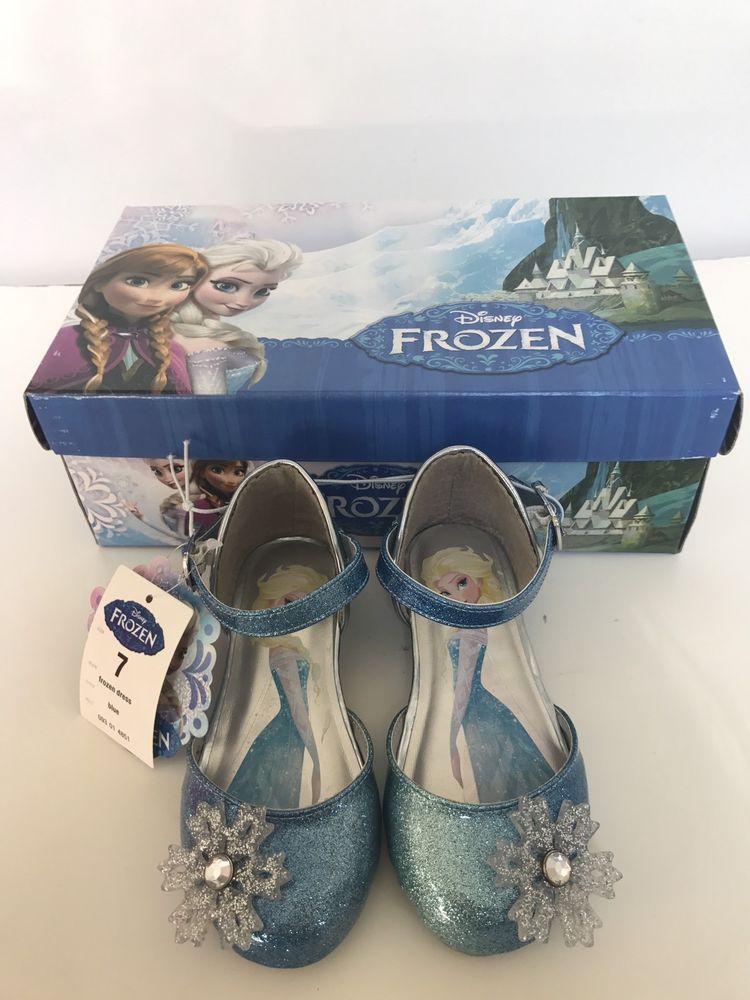 6f8eaa929f0c New Frozen ELSA Mary Jane Costume Shoes Sparkle Snowflake Size 7 Toddler  Blue #Disney #DressShoe