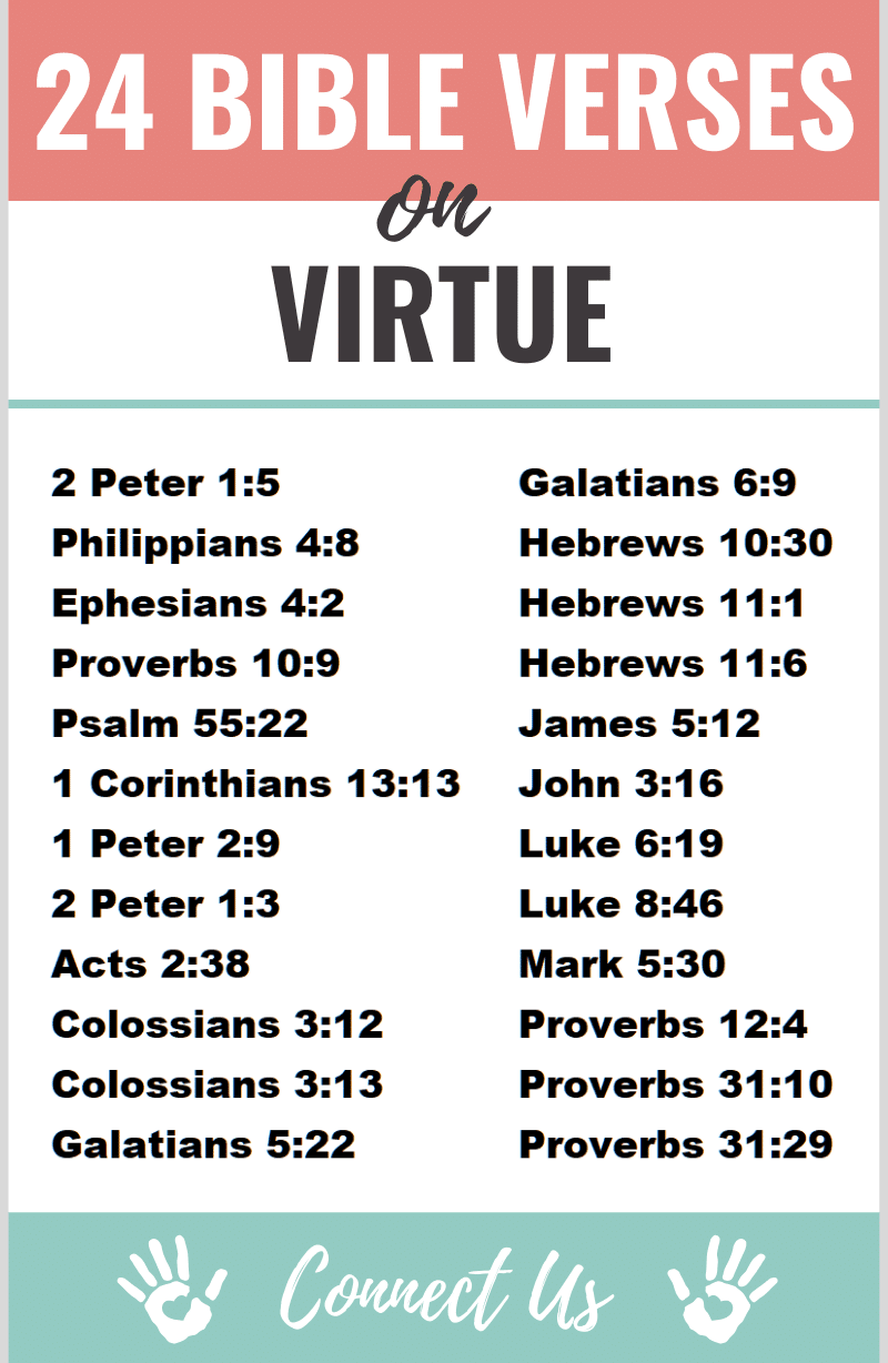 25 Important Bible Scriptures on Virtue