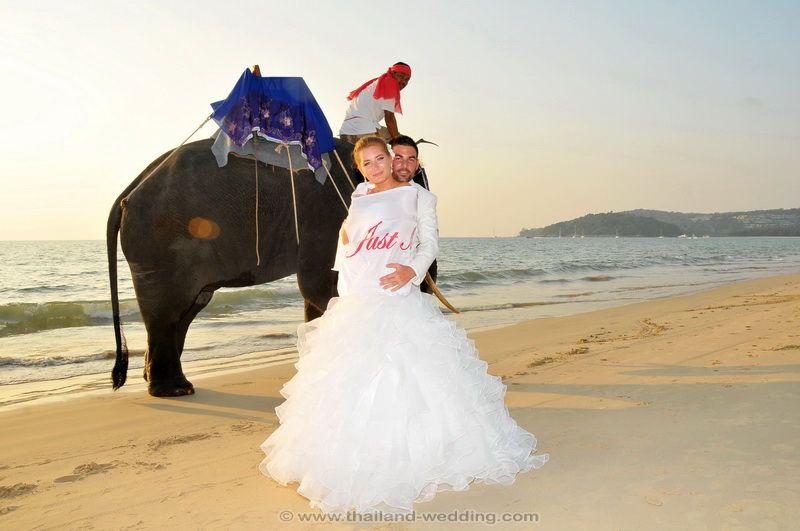 Phuket Beach Elephant Wedding Package : Marina + Jeremy | Thai Marriage Planner