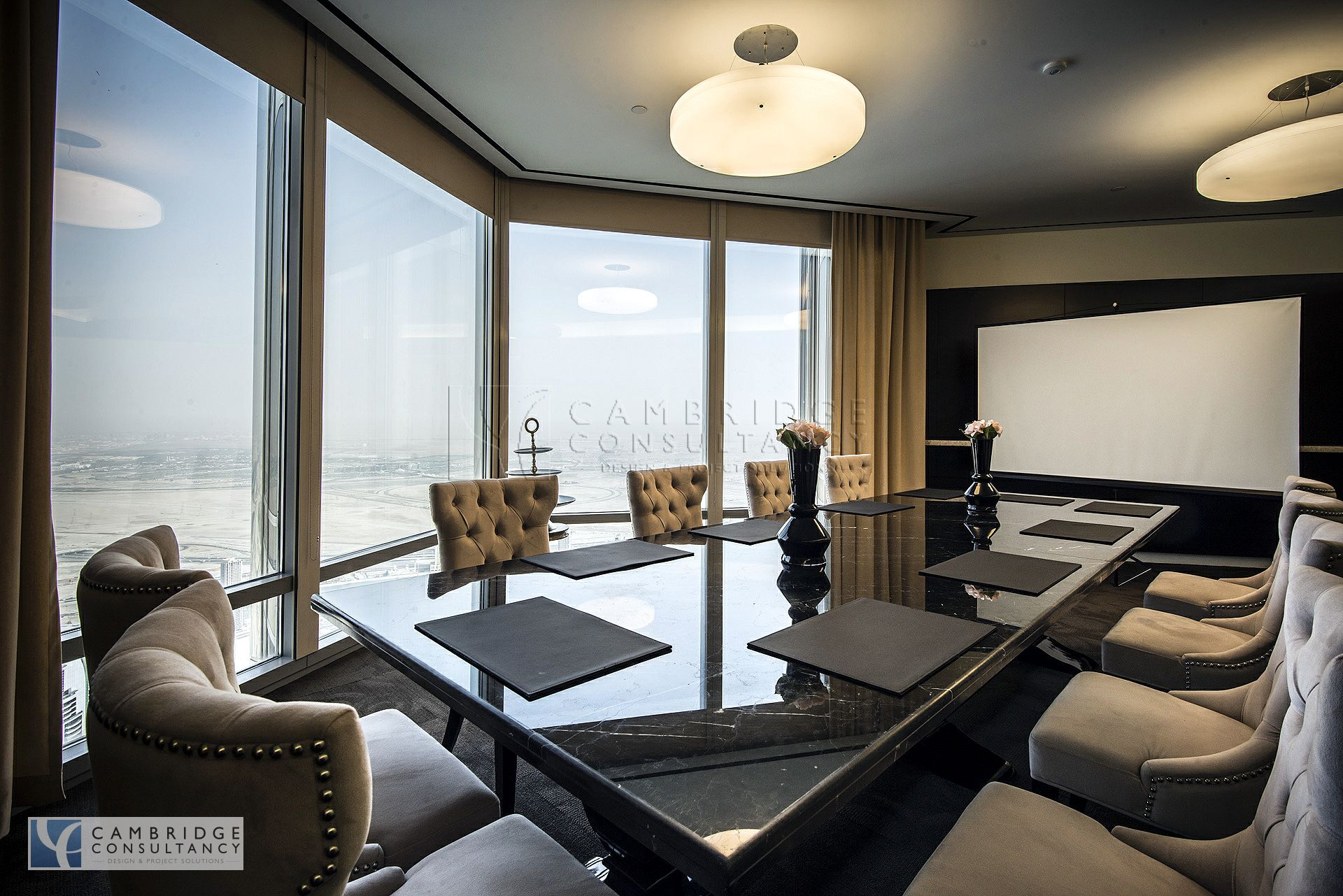 Honest re office inside burj khalifa full floor designed for Luxury office interior