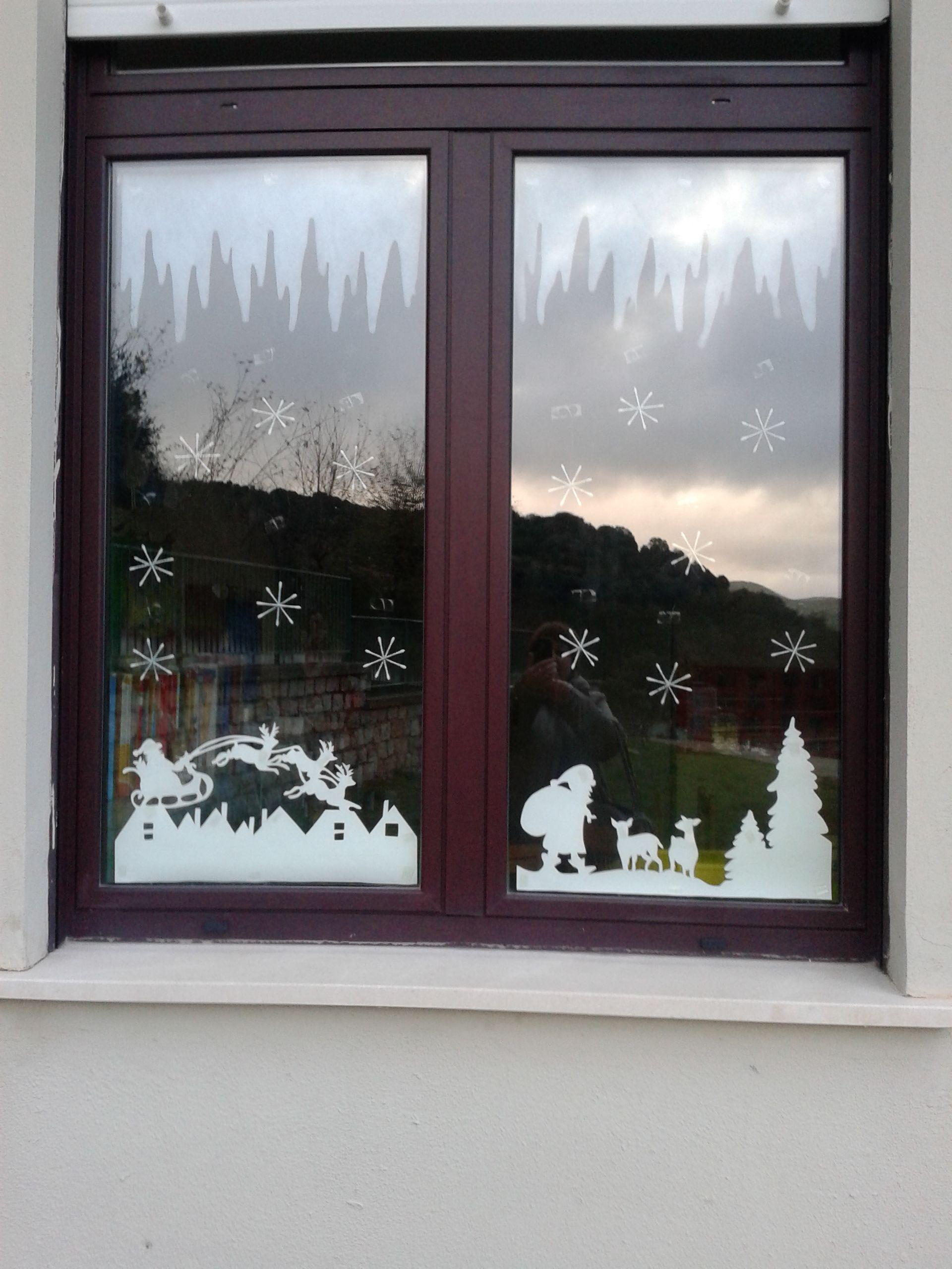 Decorare Finestre Per Natale Scuola finestra per natale a scuola | decorazioni autunnali