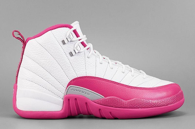 jordan 12 white pink