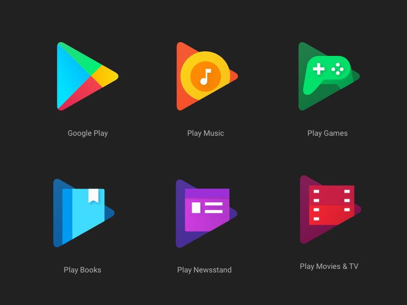 New Google Play App Icons - Free sketch resource for download