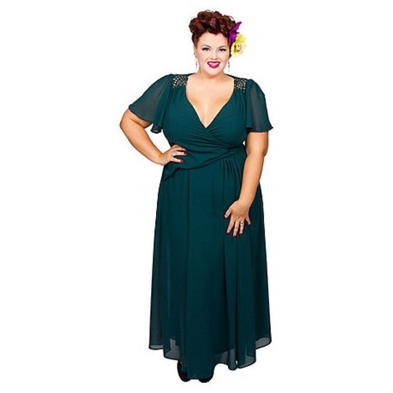 ebay link) Scarlett & Jo Green Embroidered Plus Size Dress Size UK ...