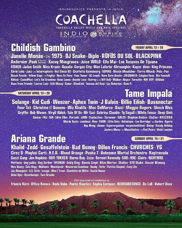 Holiday season over. Festival szn comin! Coachella
