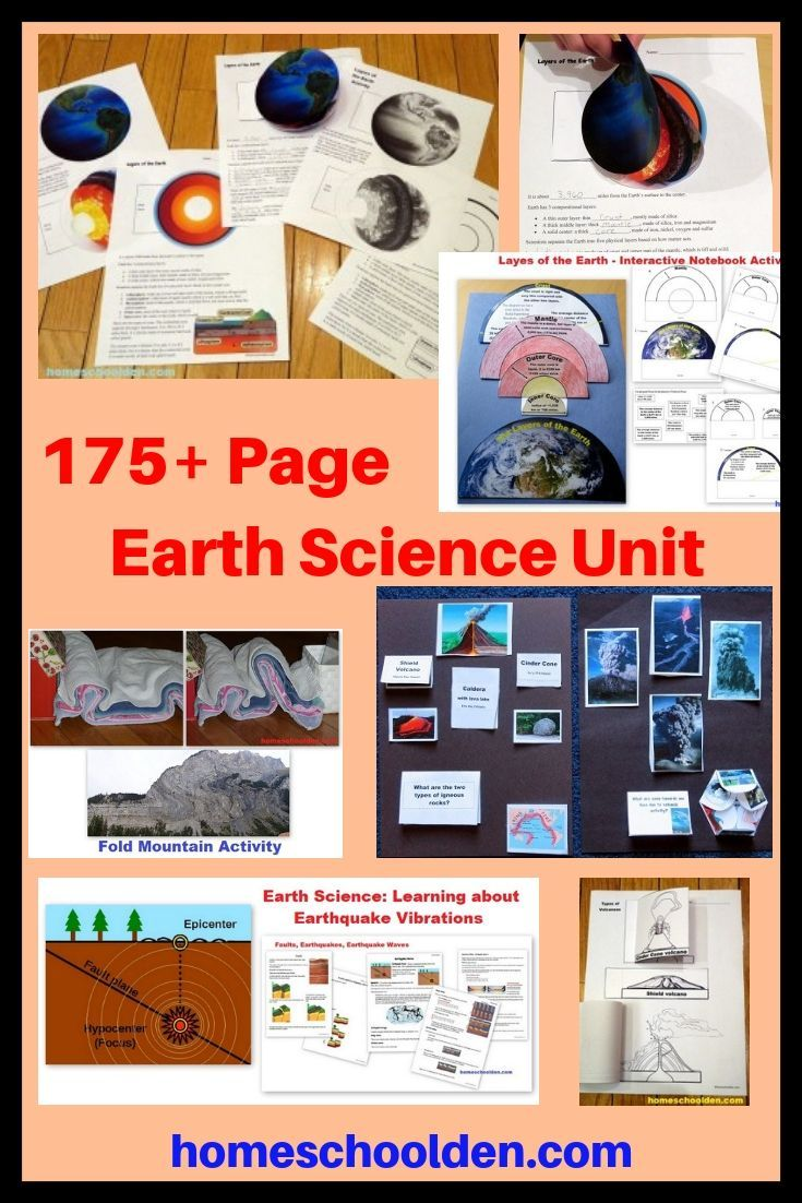 175 Page Earth Science Packet Layers Of The Earth Pangaea Plate Tectonics Faults Earthquakes Volcan Science Units Earth Science Earth Science Activities