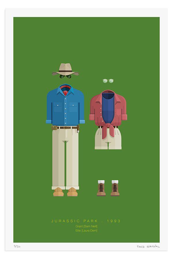 Alan Grant & Ellie Sattler (Jurassic Park) by Frederico ...