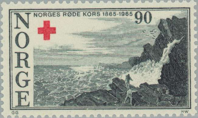 Red Cross Stamp from Norway