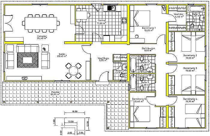 Casa planta baja home sweet home pinterest plano de vivienda planta baja y planos - Planos de casas de planta baja ...