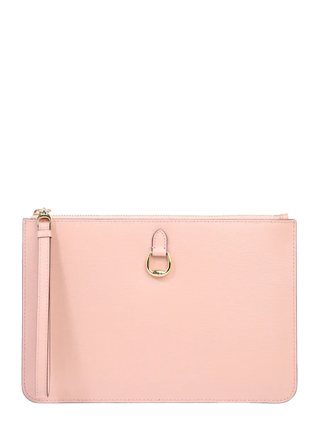 Lauren Ralph Lauren Clutch Pouch Wristlet Large Rosa Clutchbag Clutch Damentasche Bags Handbags Damesmode Tassen Sieraden
