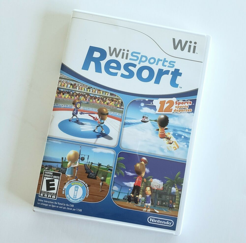 Wii Sports Resort Nintendo Video Game 2009 Complete With