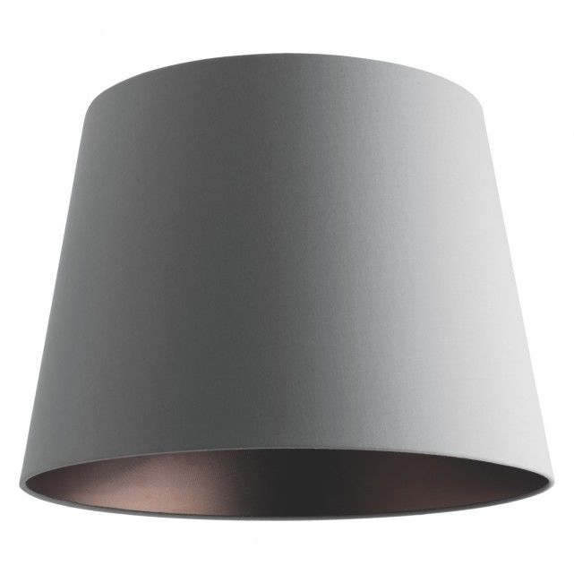Grande grey bronze lined lampshade dia 49cm fabric lampshade grey and lamp bases