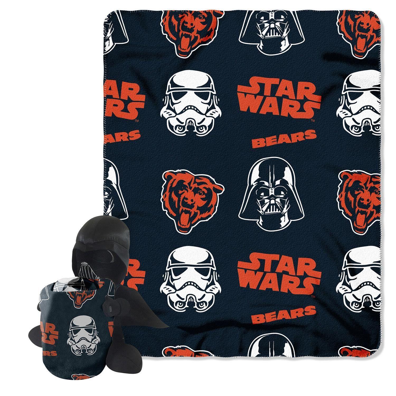 Chicago Bears Nfl Star Wars Darth Vader Hugger & Fleece Blanket Throw Set