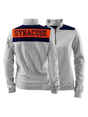 0bc3505e Preppy Ladies Syracuse University 1/4 Zip Crew #PreppySyracuse ...