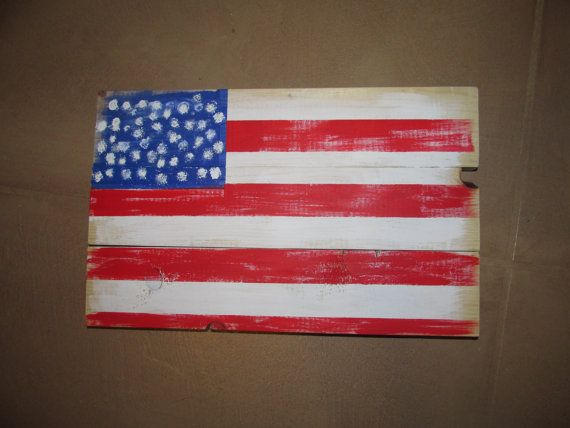 Handpainted American Flag pallet sign. by RusticXpressions on Etsy