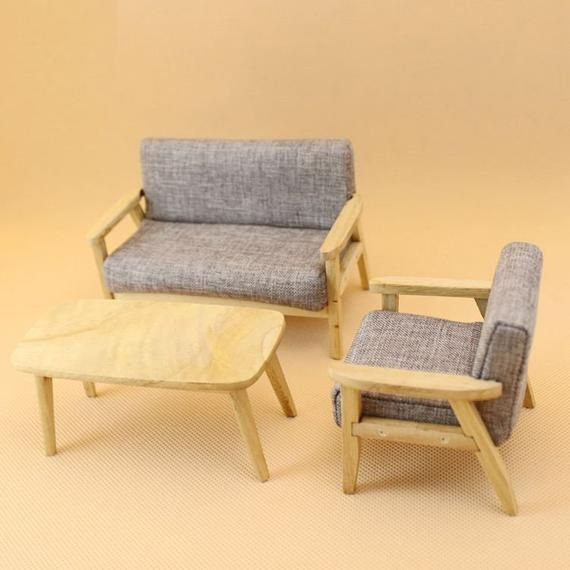 Superb 3 Pcs Set 1 12 Dollhouse Furniture Sofa Sets Dolls Dailytribune Chair Design For Home Dailytribuneorg