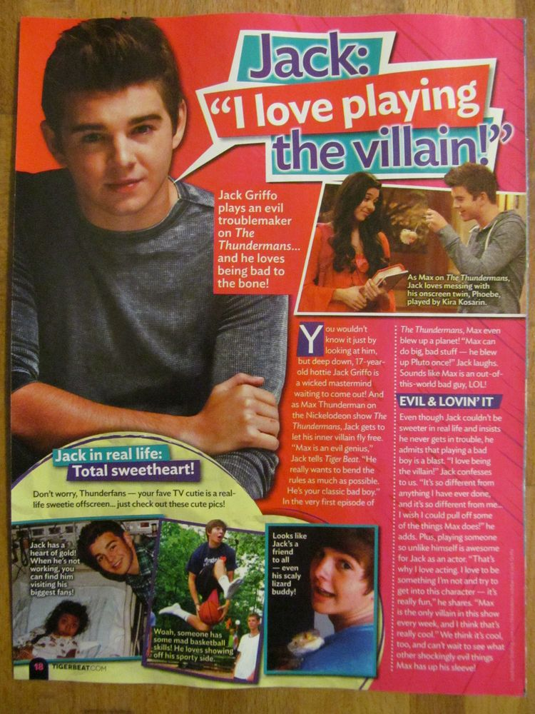 Jack Griffo, Full Page Pinup Clipping
