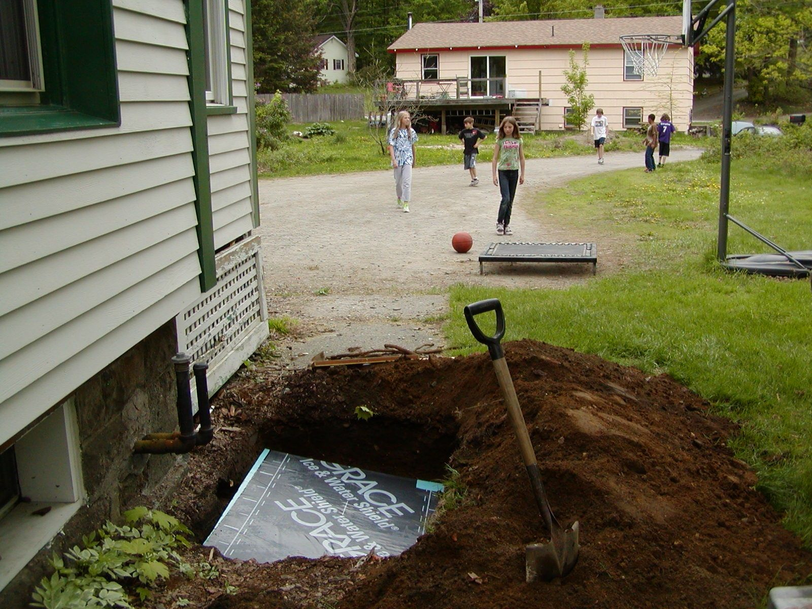 Underground roof divert water away from foundation