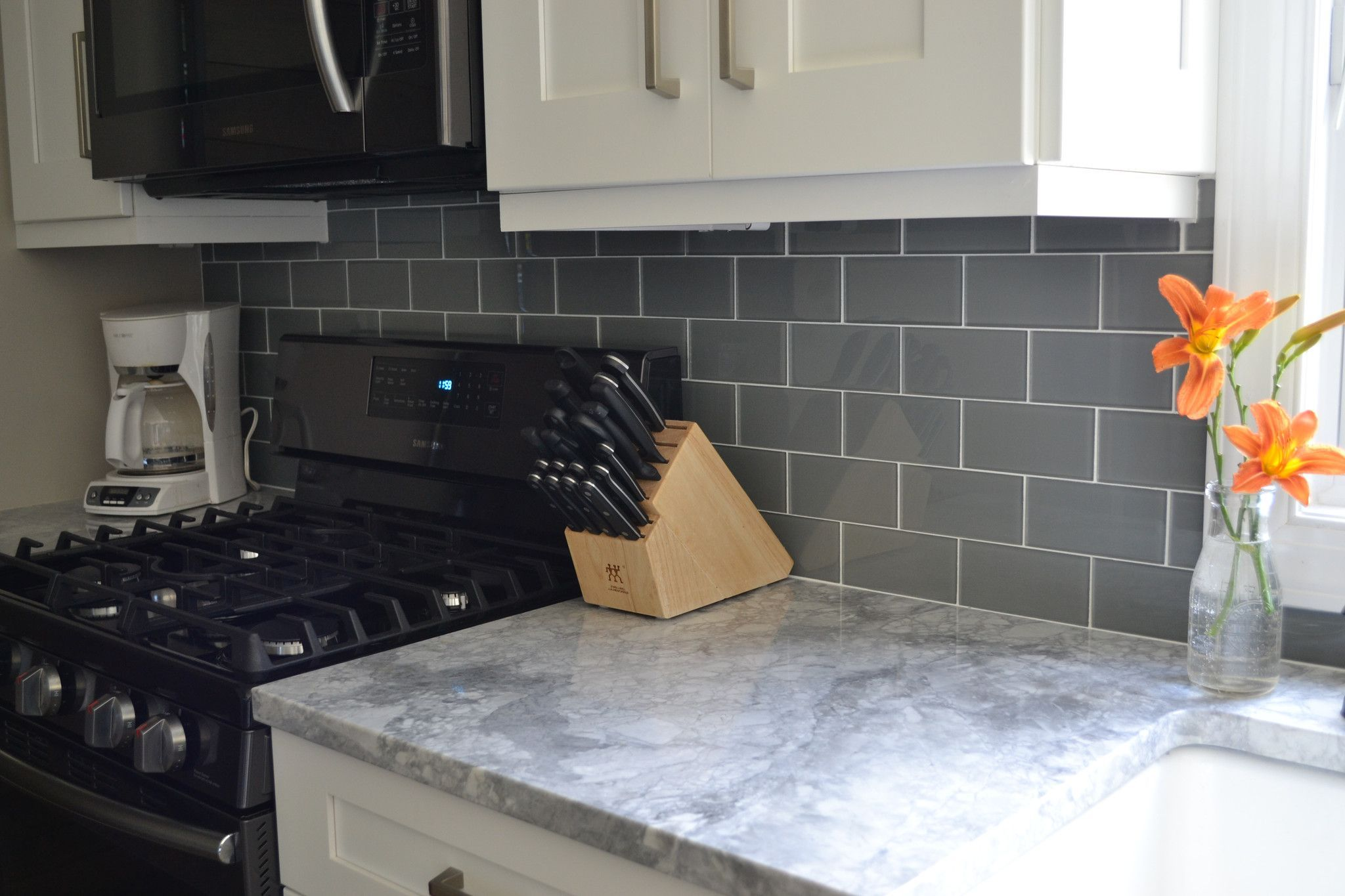 Pebble Gray 3x6 Glass Subway Tiles Grey Subway Tile Kitchen