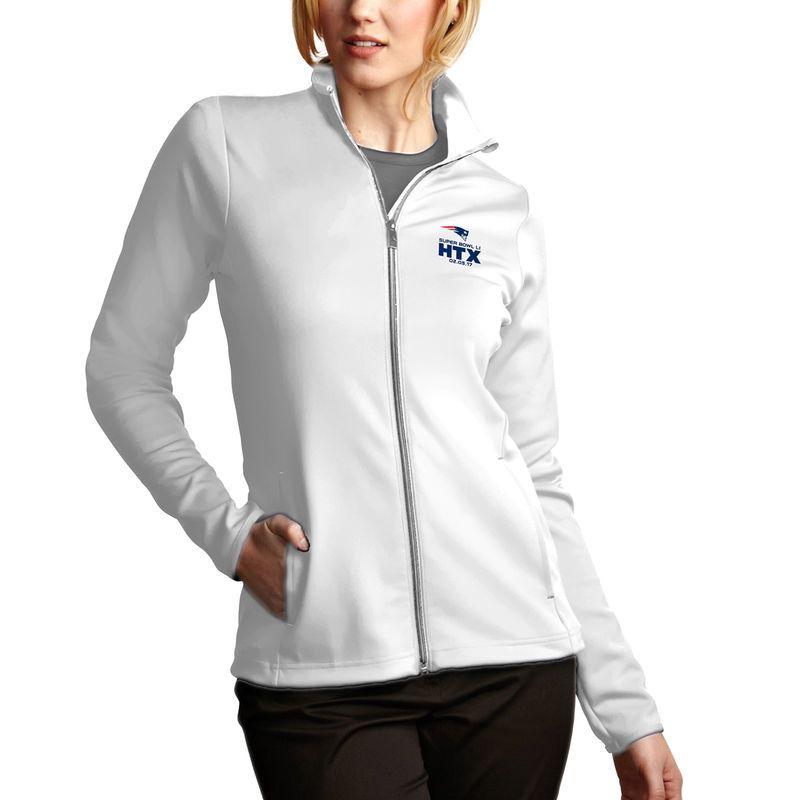 d804fbc9fca New England Patriots Antigua Women s Super Bowl LI Bound Leader Full-Zip  Jacket - White